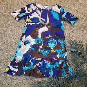 Donna Morgan Multi Color Print Mini Dress Size 14